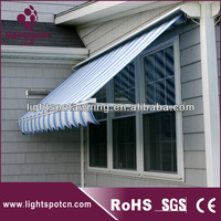 Full cassette foldable canopy retractable awnings