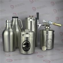 Stainless steel beer bottle for co2 soda regulator