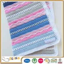 Fashionable new design pretty warm super soft blanekt knitted blanket baby