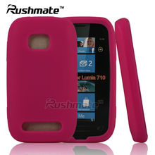 New Arrival Pink Skin Cover Cell Phone Accessory For Nokia Lumia 710 Soft Gel Silicone Case