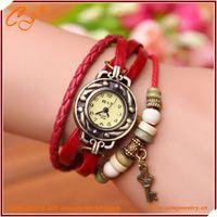 Fashion Wrist watch Leather Bracelet In Key Shape