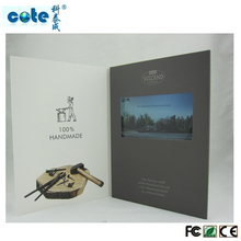 2014 new idea on advertising card, video greeting card, video brochure,video greeting cards