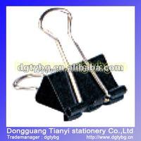 Paperback black tail Binder clip decorative binder clips