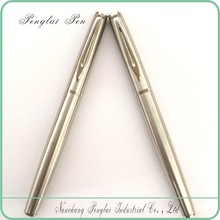 2015 heavy luxury gift metal high quality silver promotional ideal imprinted import lacquered brass pen
