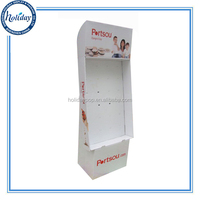 Cardboard Merchandisers Display Stands With Plastic Hooks,Point of Purchase Floor Display Stand With Hooks