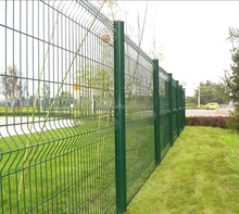 Curve fence/ triangle bending wire mesh fence/welded wire mesh Green triangle bend weld wire fence/wire mesh hot sale