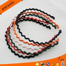 Cloth Wrapped Band Pure Color Wavy Hair Band