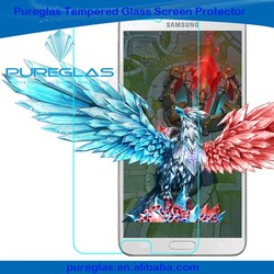 New phone accessories for Samsung mobile pureglas 0.3mm anti shock tempered glass screen protector for Samsung note 5