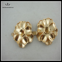 Wholesale metal flower shoe accessories buckles
