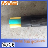 Flexible insulated electrical overhead cable