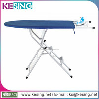 Strong and Durable Steel mesh top and big iron nest folding ironing board with step ladder