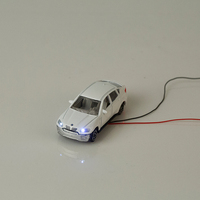 1:150 architectural scale model car with light