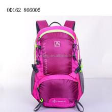 Multi function travelling backpack hiking waterproof backpack bag