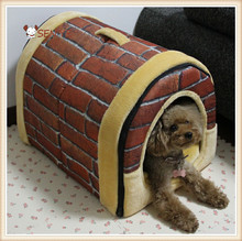 Lovely Plush Soft Dog House with Handle