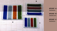 Color frosted Glass Plate Dinnerware sets clear glass plate glass tray