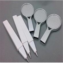 hot sale plastic ball point pen with tennis rocket shape decorative ballpoint pen promotional ballpen