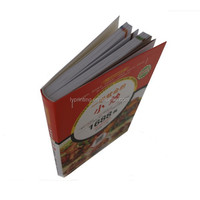 Printing hardcover cook book, full color easy cook recipes book printing