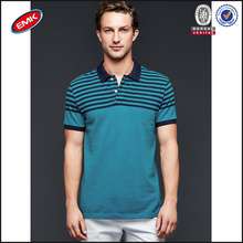popular fashion mens polo tshirts of printing stripe