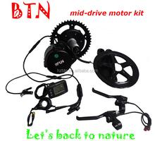 BTN 2015 hot sale 48v 750w electric bike mid drive motor kits