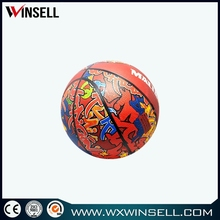 All size mini 2 color basketball rubber basketball with 12 panel shape