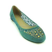latest summer ladies rhinestone nature comfort flat heel pumps shoes women hollow leather shoes with lace