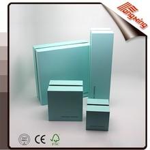 2015New Design Beautiful Blue Lift-off Plastic ring box