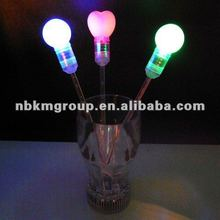 LED flashing Drink Stirrers with 3D ball on top