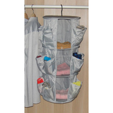 3 layer polyestic fabric hanging clothes organizer bag