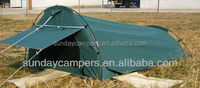 Poly cotton Aluminium Pole Material 2014 hot sale car roof tent Foldable canvas swag Made in China