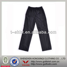 Navy Blue Color Nylon Fiber Men Casual Trousers Pants