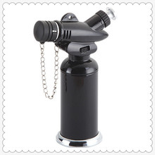 small portable refillable flame adjustable safety lock fire lock iron butane gas jet lighter GF-827
