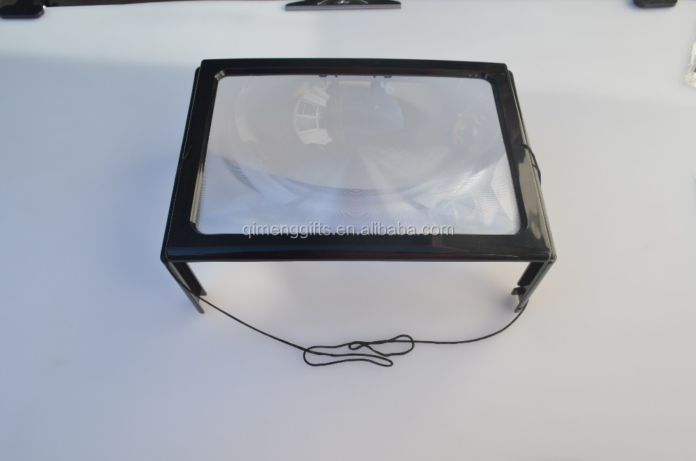 large hands free magnifying glass with light led magnifier for reading. Black Bedroom Furniture Sets. Home Design Ideas