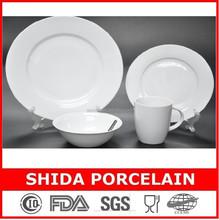 factory direct supply fine super white porcelain 16pcs dinner set