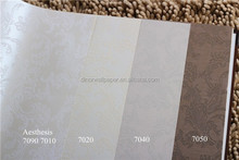 Most popular Simple design 106cm Width PVC wallpaper for hotel and project decoration