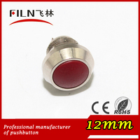 Panel 12/16/19/22/25/28/30mm Ball momentary push botton switch with terminal