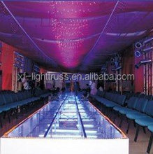 1.22 * 1.22m adjustable moving aluminum glass stage