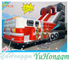 2014 China Manufacture Painting Fire Truck Inflatable Slide for Sale