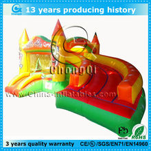 cute colorful inflatable crayon castle,inflatable castle with slide,inflatable bouncer with slide