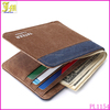 New Brand Mens Wallet Male Money Purses Short Bifold Wallet Purse Card Holder With 2 Colors