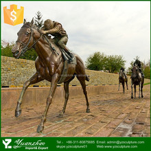 beautiful life size casting bronze garden horse statue for sale