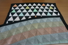 100%acrylic children knit blanket in triangle fashion design