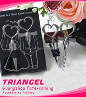 Top Quality Heart Wine Opener And Stopper Set