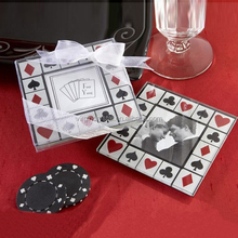 Wholesale Square Glass Coaster With Photo Insert For Wedding Souvenirs