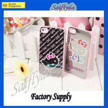 For iphone 4 Bowknot Protective Case mirror face design