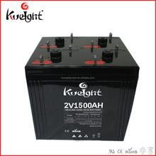 Maintenance free sealed lead acid 2V1500AH batteries for solar power back up