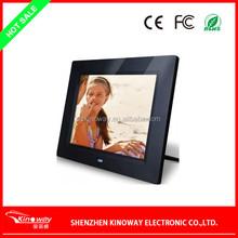 Customized 8 inch 800*600 high resolution digital photo frame remote control media player