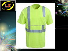 Wholesale safety shirt safety t-shirt reflective tshirt