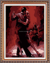 couple dancing diy diamond painting for hotel decoration