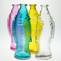 Wholesale colorful animal shaped glass wishing bottles with cork
