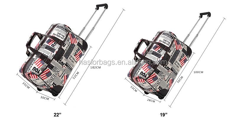 Élégant sac polochon imperméable à l'eau avec chariot pas cher chariot sac